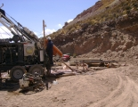 Exploration drilling in Pulacayo