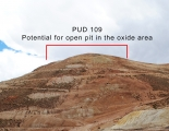 Possible open pit area Pulacayo