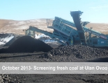 screening-fresh-coal-at-ulaan-ovoo