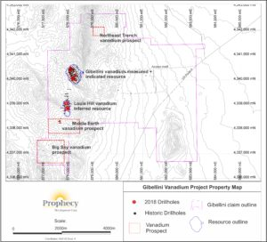 Gibellini Project, Prophecy Property Map 2
